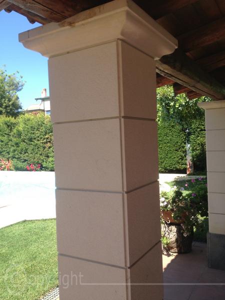 Pilastri pietra lavica lavorazione marmi sergio - Rivestimento pilastri esterni ...