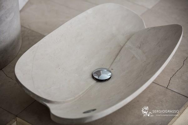 Lavandini Da Bagno In Pietra : Lavabi da bagno monolite in pietra e in marmo pietra lavica